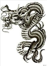 Dragon Tattoo Large Sticker Fake Temporary Tattoo for Men and Women