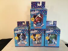 M&M Collectible Groovy Radio Set With Headphones  - Red, Blue, Yellow, Green
