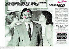 PUBLICITE ADVERTISING 106  1989  les cuisines Armand Xodo (2pages)