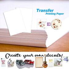 5/10/20 PCS Water Slide Decal Paper Clear A4 INKJET Waterslide Transfer Paper