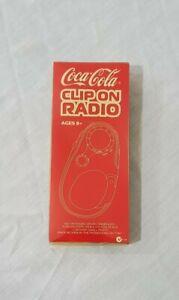 Vintage Coca Cola Clip On Radio with Compass