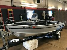 14' Aluminum Alumacraft Lunker 14SS  NO MOTOR w/ Highlander Trailer  T1290238
