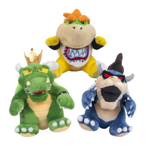 Super Mario King Koopa & Dark Koopa Bowser & Baby Koopa Stuffed Plush Toy Doll
