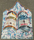 Vintage 1991 Busch Beer Metal Tin Sign Wall Art Union Made In USA