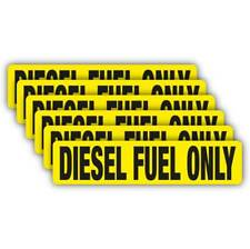 (6) Diesel Fuel Only Decal VINYL STICKER Label gas tank vehicle helmet hat sign