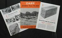 "1950 J I CASE ""MODEL NCM-T AUTOMATIC TWINE-TIE BALER"" SALES BROCHURE VERY NICE"