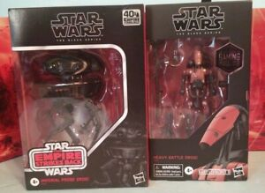 Star Wars Black Series 6 inch LOT Heavy Battle Droid, Imperial Probe Droid