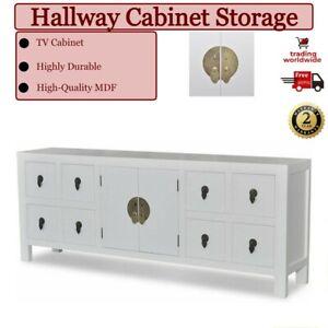 Sideboard Cabinet Drawer Large Hallway Storage Wooden Doors Asian Wood Furniture