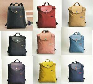 Free Shipping Auth Longchamp Le Pliage Nylon Zipper Backpack Bag 10 color