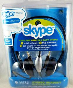 Skype Headset by Altec Lansing (Skype labeled) NEW Model AHS322