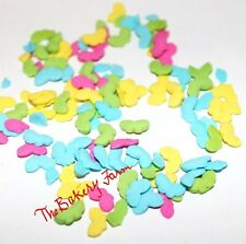 BRIGHT BUTTERFLY SPRINKLES/QUINS PARTY CAKE POP COOKIE CUPCAKE DECORATION 2 OZ