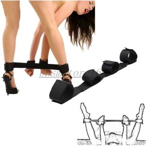 New Fantasy Adult Restraint Leg Handcuffs Spreader Bar Strap Slave Nylon Fancy