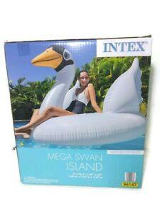Mega Swan Floating Island Pool Lounge Float NOS