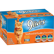 9 Lives Seafood & Poultry Favorites Wet Cat Food Variety 24 Pack, 5.5 Oz