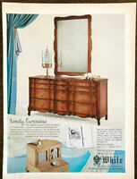 1954 White Furniture Mebane NC Print Ad Lorraine French Provincial Dresser