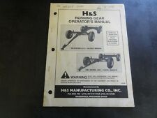 H & S 612 and 408 Wagon Running Gear Operator's Manual