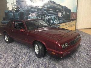 1:18 Chevrolet 1987 Monte Carlos SS  Diecast Car Model No Box  Welly