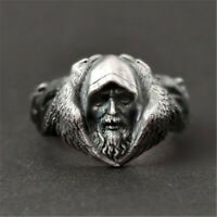 Cool Men's Stainless Steel Gothic Punk Bird Ring Head Boy Biker Finger Jewelry