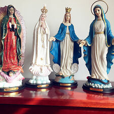 "LOT OF 4PCS Our Lady Of Guadalupe/Fatima/Grace Virgin Mary Statue Gift 16"" Inch"