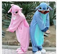 2018 Adult  Stitch & Unisex Animal One Size Costume Jumpsuit Hoodie New