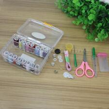 Needle Thread Spool Tape Measure Scissor Storage Box Sewing Kit Home DIY Tool