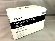 New SIGMA Contemporary 17-70mm f/2.8-4 DC Macro OS HSM Lens for SIGMA Mount