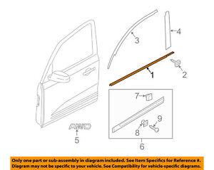 KIA OEM Sorento-Door Window Sweep-Belt Molding Weatherstrip Left 822101U010
