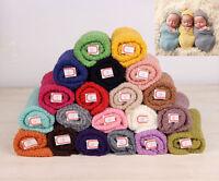 Newborn Baby Girl Boy Knit Swaddle Wrap Blanket Photography Props Bag Muslin
