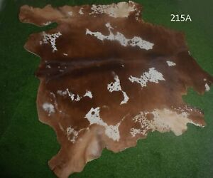 """New Cowhide Rugs Hair On COW HIDE Rugs Area Cow Skin Leather Rugs (71"""" x 70"""")"""