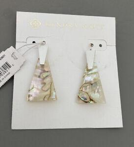 NWT Kendra Scott Collins Drop Earrings White Abalone $65.00
