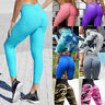 Women Yoga Pants Leggings High Waist Push Up Anti Cellulite Ruched Trousers Gym