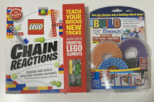 2014 Klutz Lego Chain Reactions Book And Build Bonnanza Block Tape Both New!