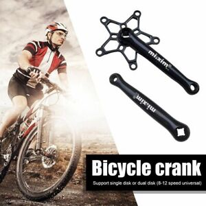Bicycle Crank Square Hole Crankset Set Portable Aluminum Alloy BCD 130mm Cycling