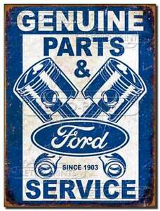 FORD Parts & Service Retro Metal Sign Poster Motor Garage Shed Man Cave Advert