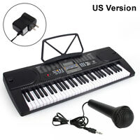 Kmise Digital Electric Keyboard Piano 61 Key LCD Screen with Mic Sheet Holder