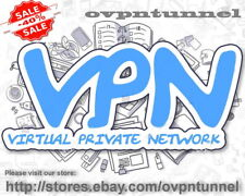 VPN SERVICE ACCOUNT 1 Year | Fast speed OpenVPN | Unlimited Data Traffic 1Gbps !