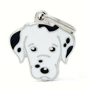 Dalmatian Dog ID Tag (08) - Engraved FREE - Personalised - Charm - Keyring