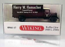 "Wiking 094407 mercedes l 2500 maleta-camión ""transportista Hamacher"" - scale 1/160 n"
