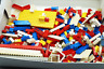 1.2 Kg of Mixed Vintage Lego Red White Blue Yellow Clear Bricks Bases Windows