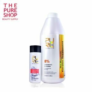 PURE 12% Brazilian Keratin 1000ml Hair Straightening Repair Treatment + Shampoo