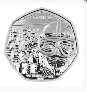 Gibraltar 2020 We Unite As One Salute To The Keyworkers 50p Commemorative Coin