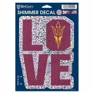 ARIZONA STATE SUN DEVILS DECAL SHIMMER WITH HOLOGRAPHIC BACKGROUND 5 X 7 NEW