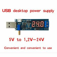 DC-DC 5V to 1.2V-24V USB Step UP/Down Power Supply Module Adjustable Converter