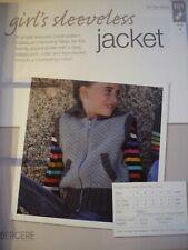 Girl's Sleeveless Jacket Knitting Pattern from Bergere de France Magazine