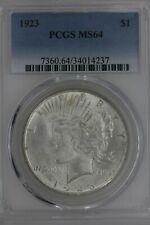 1923  $1  PCGS  MS 64  Peace Dollar, 1900's Silver Dollar, $1