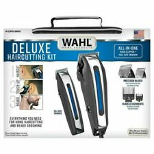 Wahl Deluxe Haircutting Kit Clipper Set with Beard TrimmerAnd Storage Case. New