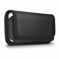 Nylon Horizontal Belt Clip Pouch Magnetic Holster Case For IPHONE X XR 6 8 PLUS