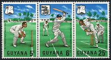 Guyana 1968 SG#445a West Indies Cricket Tour MNH Strip Set #A82788