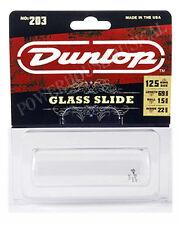 Jim Dunlop Guitar Slide 203 Large Glass.Superbly made item. Fits Ring Size 12.5