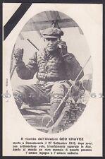 GEO CHAVEZ 22 AVIAZIONE 1910 AEREO DOMODOSSOLA Cartolina